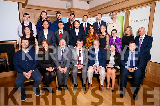 Pictured are the finalists of the Kerry County Council Entrepreneurship competition, which took place at Ballygarry House Hotel and Spa on Thursday morning last, were front l-r: Séan Foran (Mindset Institute), Caroline Birch (Wild Adventure Way) Tomás Hayes (Head of Kerry Local Enterprise Office), Charlie O'Sullivan (Kerry County Council), Sandra O'Connor (Custom Gifts) and Niall Harty (Origin Protein Bars). Middle l-r: Eimear Doyle (Gluten Free on Caherconree), Sean McGillycuddy McGillycuddy's Toys), Shane Moloney (E-Hunter), Michal Kidzinski (DetailKing Ireland), Emma Gill (Digital Coach), Clarissa Michaux (The Academy of Dance), Kelly McCloud (The Dragons Kingdom Comic Shop), Marie Looby (PereGreen Energy Ltd) and Michael Scannell, KCC Back l-r: Nikolia O'Connor (MPT Muscle Physiotherapy), Shane O'Leary (Cordal Goat's Cheese), James Sheehy (Caddy Guy), Gabor Szucs (South West Sewing), Declan Sugrue (Office-Light), Rob Durran (XINTEC) and Ger O'Sullivan (OSR).