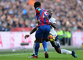 5th November 2017, Wembley Stadium, London England; EPL Premier League football, Tottenham Hotspur versus Crystal Palace; Serge Aurier of Tottenham Hotspur intercepts Jeffrey Schlupp of Crystal Palace