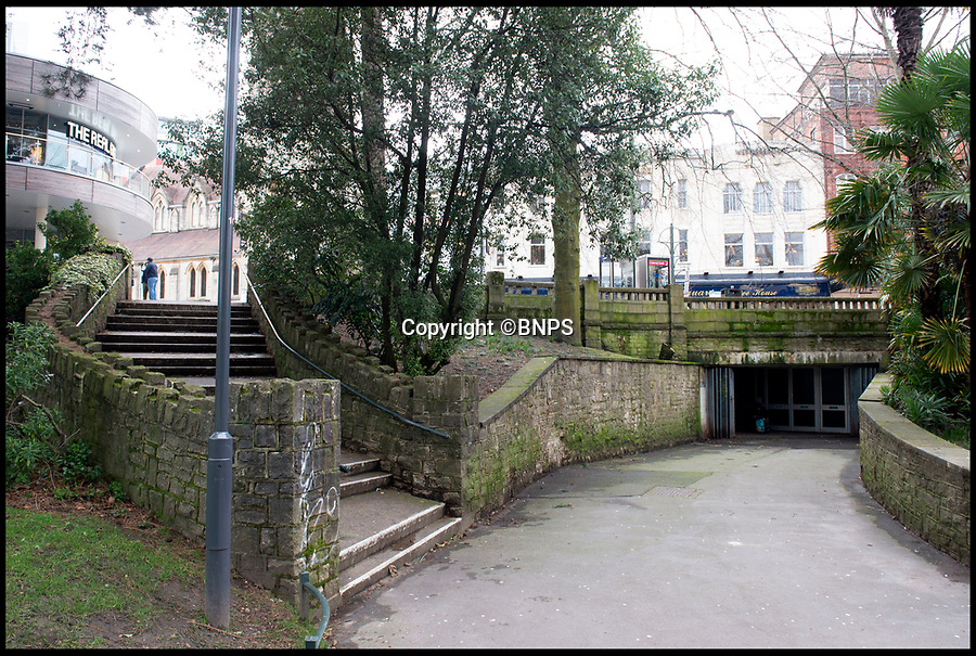 BNPS.co.uk (01202 558833)<br /> Pic:  RogerArbon/BNPS<br /> <br /> The area on Exeter Road in Bournemouth where the incident took place, with the wall on the right of the picture which Clara Martin was pushed over.<br /> <br /> This is the moment a businessman hugs the girlfriend he almost killed by pushing her over a 20ft wall after her forgiveness helped spare him from prison.<br /> <br /> Andrew Pilliner grabbed Clara Martin around the throat, picked up her legs and launched her over the parapet during a drunken argument on a night out.<br /> <br /> Miss Martin landed head first on concrete and suffered a broken neck and a head injury but luckily survived.<br /> <br /> Despite the seriousness of the attack, Miss Martin told police officers from her hospital bed that she still loved her partner of 10 years and did not want him to face charges.