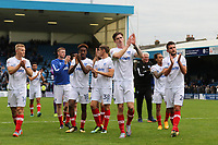 Oliver Hawkins leads the applause to the Portsmouth fans as the players head to the dressing room at the final whistle during Gillingham vs Portsmouth, Sky Bet EFL League 1 Football at the MEMS Priestfield Stadium on 8th October 2017
