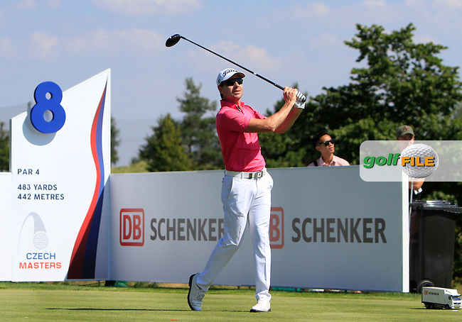 Brett Rumford (AUS) on the 8th tee during Round 2 of the D&amp;D Real Czech Masters 2016 at the Albatross Golf Club, Prague on Friday 19th August 2016.<br /> Picture:  Thos Caffrey / www.golffile.ie<br /> <br /> All photos usage must carry mandatory copyright credit   (&copy; Golffile | Thos Caffrey)