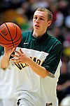 12 December 2010: University of Vermont Catamount guard Sandro Carissimo, a Freshman from Sleepy Hollow, NY, warms up prior to facing the Marist College Red Foxes at Patrick Gymnasium in Burlington, Vermont. The Catamounts (7-2) defeated the Red Foxes  75-67 notching their 7th win of the season, and their best start since the '63-'64 season. Mandatory Credit: Ed Wolfstein Photo
