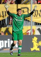 Fussball, 2. Bundesliga, Saison 2011/12, SG Dynamo Dresden - Alemannia Aachen, Sonntag (16.10.11), gluecksgas Stadion, Dresden. Dresdens Torwart Wolfgang Hesl.