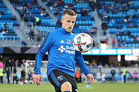 San Jose, CA - Saturday April 08, 2017: Tommy Thompson  prior to a Major League Soccer (MLS) match between the San Jose Earthquakes and the Seattle Sounders FC at Avaya Stadium.