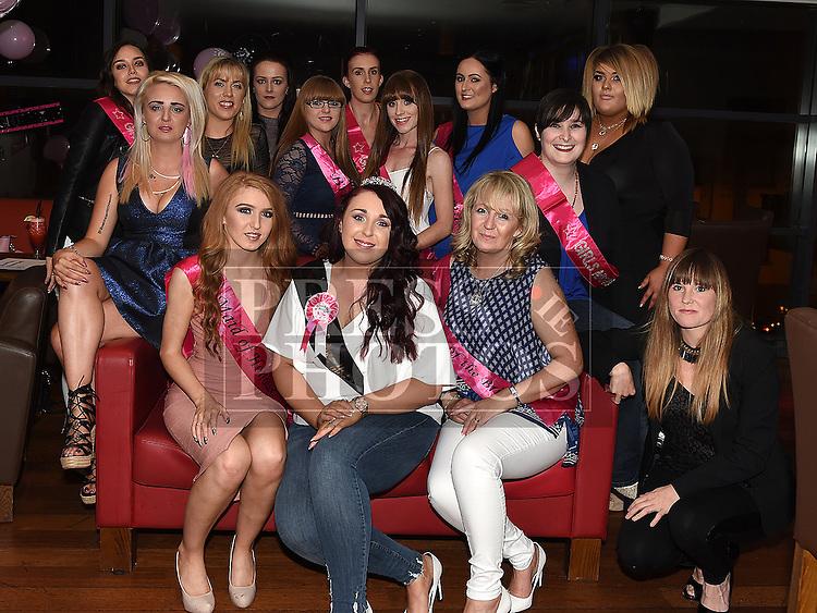 Donna Marie Carroll from Duleek celebrating her hen night with family and friends in Brú. Photo:Colin Bell/pressphotos.ie