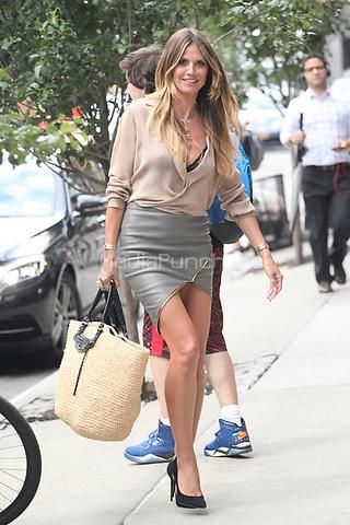 NEW YORK, NY - JULY 6: Heidi Klum seen on July 6, 2017 in New York City. Credit: DC/Media Punch