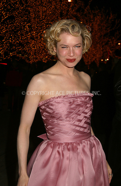 "Renee Zellweger arrives at the premiere after party for ""Chicago."" New York, December 18, 2002. Please byline: Alecsey Boldeskul/NY Photo Press.   ..*PAY-PER-USE*      ....NY Photo Press:  ..phone (646) 267-6913;   ..e-mail: info@nyphotopress.com"