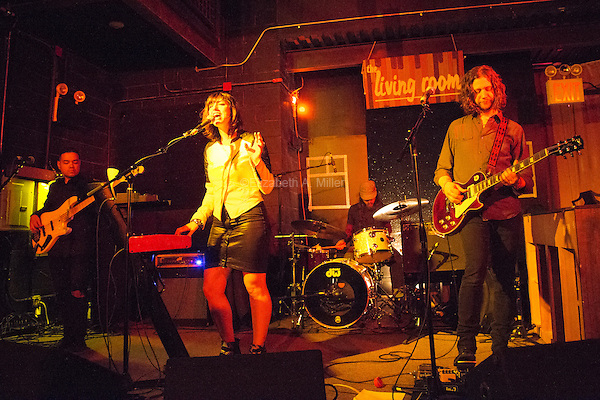 Kalen & The Sky Thieves play The Living Room in the Williamsburg neighborhood of Brooklyn, New York on November 22, 2014