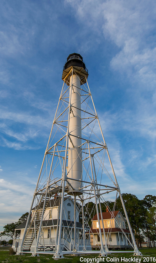 PORT ST. JOE, FLA. 4/19/16-The Cape San Blas Lighthouse and lighthouse keepers' quarters now stand in George Core Park in Port St. Joe, Fla. The light was moved to the park in 2014.<br /> <br /> COLIN HACKLEY PHOTO
