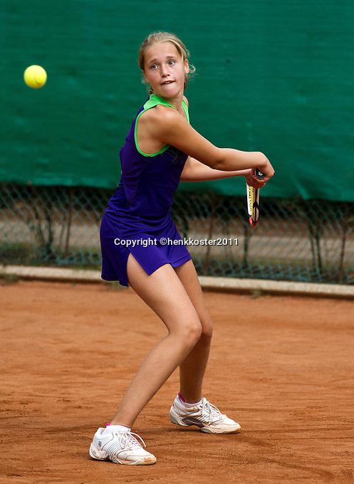 10-08-11, Tennis, Hillegom, Nationale Jeugd Kampioenschappen, NJK, Roos Gerritsen