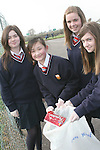 Sacred Heart Students doing a clean up of the area around their school...Photo NEWSFILE/Jenny Matthews.(Photo credit should read Jenny Matthews/NEWSFILE)....This Picture has been sent you under the condtions enclosed by:.Newsfile Ltd..The Studio,.Millmount Abbey,.Drogheda,.Co Meath..Ireland..Tel: +353(0)41-9871240.Fax: +353(0)41-9871260.GSM: +353(0)86-2500958.email: pictures@newsfile.ie.www.newsfile.ie.FTP: 193.120.102.198.