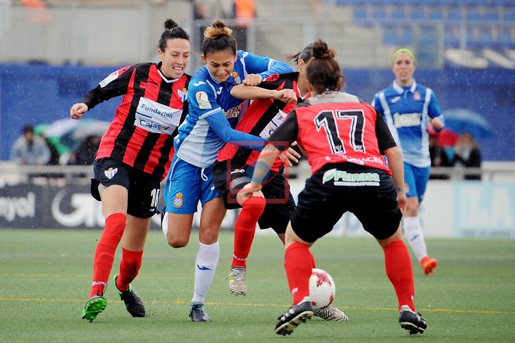 Spanish Women's Football League Iberdrola 2017/18 - Game: 18.<br /> RCD Espanyol vs Sporting Huelva: 1-0.<br /> Sandra Castello, Letti Sevilla, Elena Iuliana &amp; Sandra Bernal.