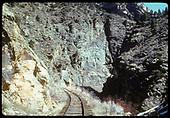 R.R. grade - Black Canyon.<br /> D&amp;RGW  Black Canyon, CO