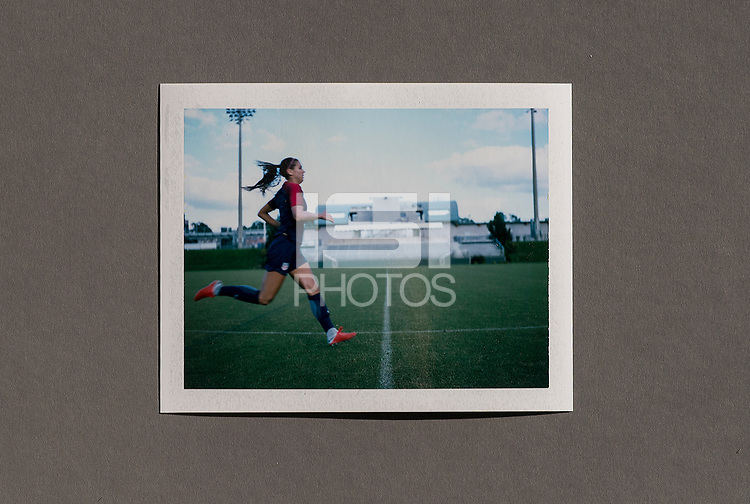 Cary, NC - October 1, 2018:  The USWNT trains in preparation for the group stage of the 2018 CONCACAF Women's Championship at WakeMed Soccer Park.