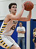 George Mansour #45 of Northport drains a three-pointer during the fourth quarter of a Suffolk II boys basketball game against Connetquot at Northport High School on Wednesday, Jan. 9, 2019. He scored 10 of his 14 points in the fourth quarter. Northport won by a score of 62-48.