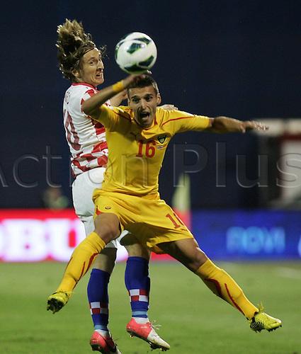 07.09.2012. Zagreb, Croatia. 2014 World Cupo qualification match.   The game finished 1-0 to Croatia.   Luka Modric 10 and Nikola Gligorov 16