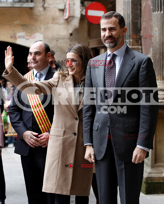 Prince Felipe of Spain and Princess Letizia of Spain visit Alcaniz village on November 7, 2012 in Alcaniz, Teruel, Spain. (ALTERPHOTOS/Acero) .<br /> &copy;NortePhoto
