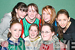 Ballydonoghue girls: Enjoying the Shannonside Youth Club Soccer Game at the Ballybunion Community Centre on Friday night were front l-r: Deirdre McCarthy, Zoe Hughes and Aideen O'Connell. Back l-r: Norma O'Sullivan, Laura Foley, Catherine Flavin and Yvonne Joy.   Copyright Kerry's Eye 2008
