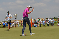 Andrew Wise (USA) after sinking his putt on 10 during round 3 of the AT&amp;T Byron Nelson, Trinity Forest Golf Club, at Dallas, Texas, USA. 5/19/2018.<br /> Picture: Golffile | Ken Murray<br /> <br /> <br /> All photo usage must carry mandatory copyright credit (&copy; Golffile | Ken Murray)