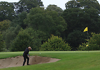 Mary Quigley (Mount Juliet) plays out of a bunker at the 14th green during the Final of the Irish Mixed Foursomes Leinster Final at Millicent Golf Club, Clane, Co. Kildare. 06/08/2017<br /> Picture: Golffile | Thos Caffrey<br /> <br /> <br /> All photo usage must carry mandatory copyright credit     (&copy; Golffile | Thos Caffrey)