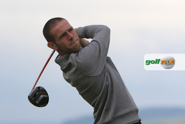 Michael Reid (Galgorm Castle) on the 18th tee during Round 2 of the North of Ireland Amateur Open Championship 2019 at Portstewart Golf Club, Portstewart, Co. Antrim on Tuesday 9th July 2019.<br /> Picture:  Thos Caffrey / Golffile<br /> <br /> All photos usage must carry mandatory copyright credit (© Golffile | Thos Caffrey)