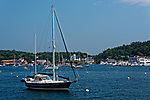 Boats in the harbor, Boothbay Harbor, Maine, USA