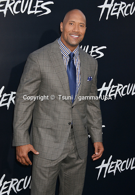 Dwayne Johnson  at the Hercules Premiere at the TCL Chinese Theatre in Los Angeles.
