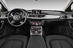 Straight dashboard view of a 2014 Audi A6 AVUS 4 Door Sedan 2WD