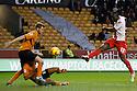 Francis Zoko of Stevenage shot blocked<br />  - Wolverhampton Wanderers v Stevenage - Sky Bet League One - Molineux, Wolverhampton - 2nd November 2013. <br /> © Kevin Coleman 2013