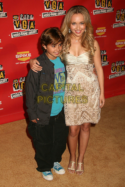 JANSEN PANETTIERE & HAYDEN PANETTIERE.Spike TV's 2006 Video Game Awards at the Galen Center - Arrivals, Los Angeles, California, USA, 08 December 2006..full length brother sister.CAP/ADM/BP.©Byron Purvis/Admedia/Capital Pictures