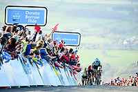 Picture by SWpix.com - 04/05/2018 - Cycling - 2018 Tour de Yorkshire - Stage 2: Barnsley to Ilkley - Yorkshire, England - Astana's Magnus Cort Nielsen takes the victory on Stage 2 at the summit of the Cote de Cow and Calf.