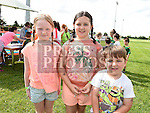 Sophie Donnelly, Ava and Nathan Crosby at the Duleek Bellewstown GFC family funday. Photo:Colin Bell/pressphotos.ie