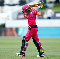 2nd November 2019; Western Australia Cricket Association Ground, Perth, Western Australia, Australia; Womens Big Bash League Cricket, Melbourne Renegades versus Sydney Sixers; Alyssa Healy of the Sydney Sixers walks out to open the Sixers innings - Editorial Use