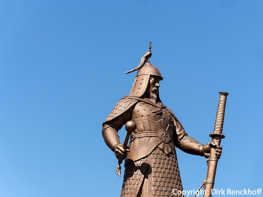 Statue von Admiral Yi am F&auml;hrhafen In Yeosu, Provinz Jeollanam-do, S&uuml;dkorea, Asien<br /> monument of admiral Yi at ferry port  in Yeosu, province Jeollanam-do, South Korea, Asia