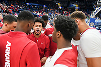 NWA Democrat-Gazette/CHARLIE KAIJO Arkansas Razorbacks guard Anton Beard (31) chants during the Southeastern Conference Men's Basketball Tournament, Thursday, March 8, 2018 at Scottrade Center in St. Louis, Mo.