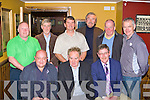 Jimmy Healy Glenbeigh celebrates his retirement from St Finians Hospital Killarney in Corkerys bar on Thursday night with his colleagues front row l-r: Frank Hayes, Jimmy Healy, Con O'Shea. Back row: Aidan Kelly, Paudie O'Mahony, Martin Byrnes, Jerome O'Regan, Michea?l Murphy and Michael Quirke.