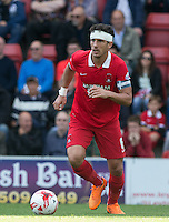Mathieu Baudry of Leyton Orient on the ball during the Sky Bet League 2 match between Leyton Orient and Wycombe Wanderers at the Matchroom Stadium, London, England on 19 September 2015. Photo by Andy Rowland.