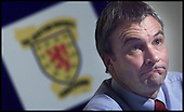 SFA Ch Exec David Taylor discusses activity in the search for a new Scotland team coach, at a p/c at Hampden  .... Pic Donald MacLeod 19.10.01