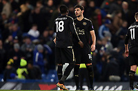 Daniel Amartey and Aleksandar Dragovic of Leicester city after Chelsea vs Leicester City, Premier League Football at Stamford Bridge on 13th January 2018