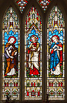 Church of Saint Peter, Blaxhall, Suffolk, England, UK Victorian stained glass c 1867 Lavers, Barraud and Westlake