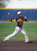 Boca Ciega Pirates shortstop Lazero Rodriguez (17) during a game against the Lakeland Spartans at Boca Ciega High School on March 2, 2016 in St. Petersburg, Florida.  (Copyright Mike Janes Photography)