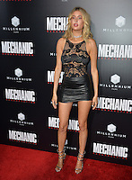 LOS ANGELES, CA. August 22, 2016: Model Gemma Vence at the Los Angeles premiere of &quot;Mechanic: Resurrection&quot; at the Arclight Theatre, Hollywood.<br /> Picture: Paul Smith / Featureflash