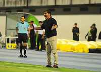 BARRANCABERMEJA - COLOMBIA, 29-03-2018:Flavio Torres director técnico del Deportivo Pasto.  Alianza Petrolera y Deportivo Pasto en partido por la fecha 11 de la Liga Águila I 2018 disputado en el estadio Daniel Villa Zapata de la ciudad de Barrancabermeja. / Flavio Torres coach of Deportivo Pasto. Alianza Petrolera and Deportivo Pasto in match for the date 11 of the Aguila League I 2018 played at Daniel Villa Zapata stadium in Barrancabermeja city. Photo: Vizzoriamge  Jose Martínez / Contribuidor