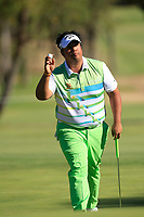 Kiradech Aphibarnrat (THA) in action on the 4th during the Matchplay Final of the ISPS Handa World Super 6 Perth at Lake Karrinyup Country Club on the Sunday 11th February 2018.<br /> Picture:  Thos Caffrey / www.golffile.ie<br /> <br /> All photo usage must carry mandatory copyright credit (&copy; Golffile | Thos Caffrey)
