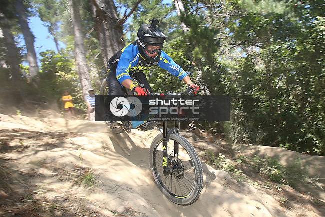 NELSON, NEW ZEALAND - January 28: Top Gun Mountain Bike Downhill race The Fringe  on January 28 2017 in Nelson, New Zealand. (Photo by: Evan Barnes Shuttersport Limited)