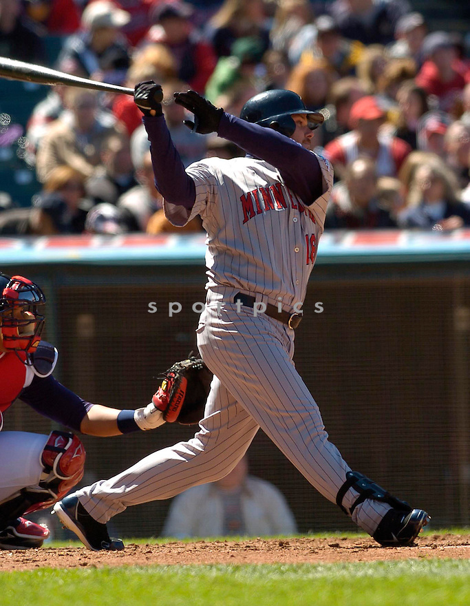 Jason Kubel of the Minnesota Twins, in action against the Indians on April 9, 2006...Indians win 3-2..David Durochik / SportPics