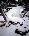 Caribou Falls, Superior State Forest, Minnesota, January, 1990