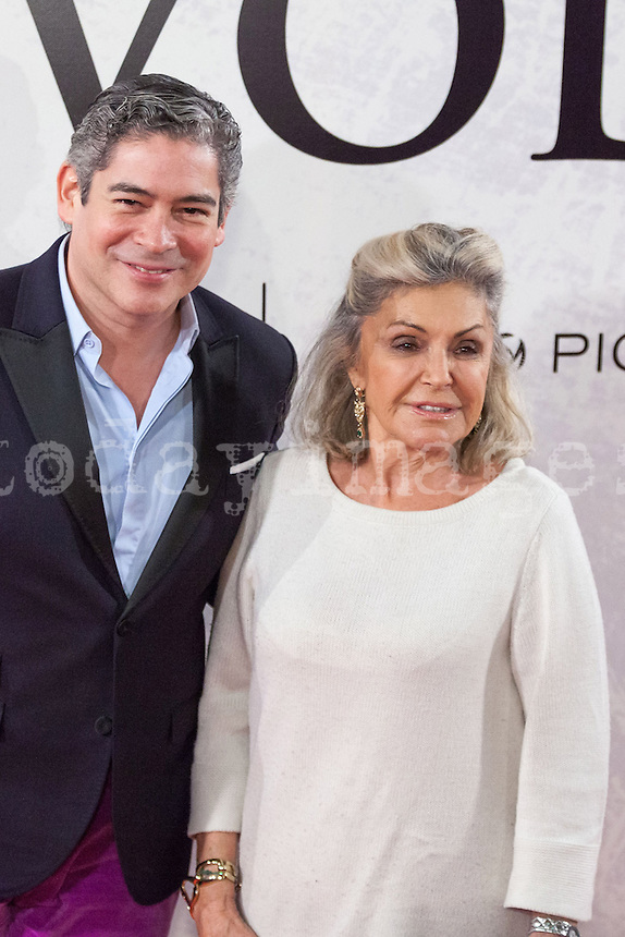 Boris Izaguirre and BÈatrice d'OrlÈans attending the opening of the movie Volver a Nacer in Madrid.