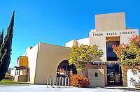 Rob W. Quigley: Linda Vista Branch Library. South--Street Facade. (wide angle lens)  Photo '97.