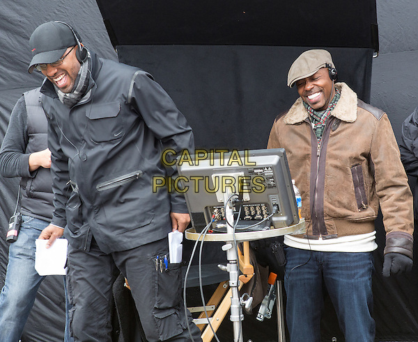 Tim Story (Director), WIll Packer (Producer)<br /> on the set of Ride Along (2014) <br /> *Filmstill - Editorial Use Only*<br /> CAP/FB<br /> Image supplied by Capital Pictures